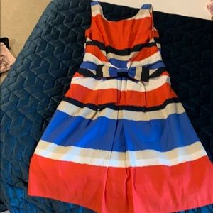 Kate Spade multi color bow  dress size 6